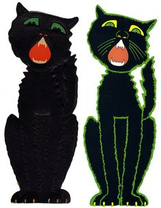 Luhrs and Beistle Large Black Cats by halloween_guy, via Flickr