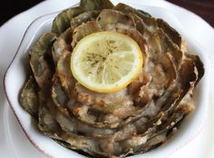 Stuffed artichoke. I don't think I would make this but I wish someone would make it for me!  It's making my mouth water!  Yum.