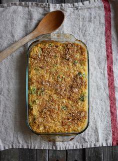 Cheesy Vegan Quinoa and Broccoli Bake.  Gena