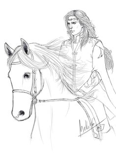 Glorfindel and Asfaloth by MellorianJ on DeviantArt