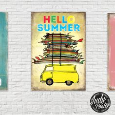 Vintage / Retro Sign Old Style Wall Decor HELLO by Judydesignstore