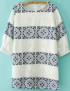 To find out about the Navy White Half Sleeve Striped Floral Dress at SHEIN, part of our latest Dresses ready to shop online today! Cheap Dresses, Women's Dresses, Dresses Online, Summer Dresses, Shift Dress Pattern, Fashion Sites, Dress Picture, Floral Stripe, White Fashion