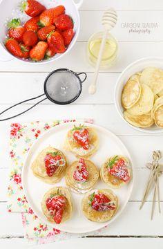 il Gatto Goloso: mini pancakes finger food