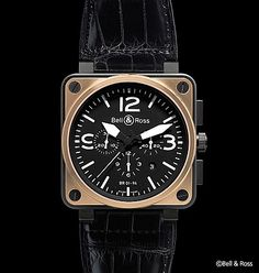 5771495a14f Bell   Ross Aviation BR Rose Gold   Carbon Watch Replica