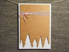 Instead of buying those big packs of identical holiday cards, make these easy homemade cards that really say you're thinking of that special someone. easy homemade 22 DIY Christmas Cards That Deliver More Holiday Cheer Than Store-Bought Simple Christmas Cards, Homemade Christmas Cards, Christmas Tree Cards, Handmade Christmas, Homemade Cards, Christmas Crafts, Christmas Holiday, Christmas Lights, Christmas Ideas