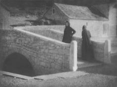 Tadeusz Wański collection / Chorwacja / Rab / Rybaczki na moście / 30 x 40 cm, bromolej