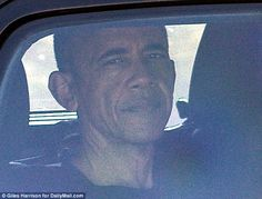 The former president was pictured in his armored Secret Service SUV as he left a country club gym where he had worked out before heading to the course
