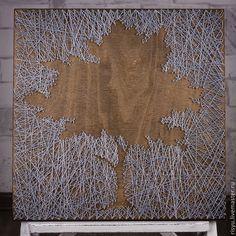 """Пейзаж ручной работы. Ярмарка Мастеров - ручная работа. Купить """"Дерево жизни"""" в стиле стринг арт. Handmade. Картина в подарок"""