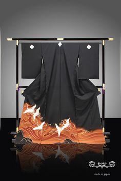 黒留袖 留袖 とめそで 千切屋 絹 ☆ 送料無料。黒留袖 留袖 とめそで   京都老舗 千切屋 謹製   絹