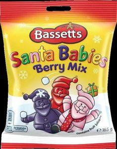 Bassetts Santa Babies Bag – The Wee British Shoppe British Store, Santa Baby, Store Online, Frosted Flakes, Berries, Fruit, Bags, Food, Handbags