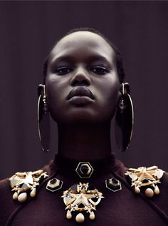 "awesome Sudanese model Ajak Deng is officially done with the fashion industry over ""fakes and lies"" [fashion]"