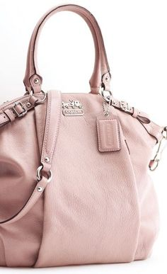 Soft pink leather slouchy Coach® purse. Sigh.