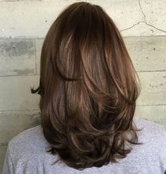 70 Brightest Medium Layered Haircuts to Light You Up Long Layers for Medium Length Hair Medium Layered Haircuts, Medium Hair Cuts, Medium Hair Styles, Curly Hair Styles, Medium Cut, Medium Long, Haircut For Thick Hair, Haircuts For Long Hair, Straight Hairstyles
