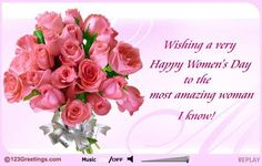 For+Most+Amazing+Women+Happy+Women's+Day+Greetings+Card