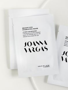Bright Eye Hydrating Mask | **Joanna Vargas**    Fake a full night's sleep with this Bright Eye Hydrating Mask that specially treats the area around the eyes to awaken and replenish. Crafted with all natural ingredients to gently detoxify and tone. Each pack includes 5 sheets.