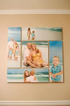 Like the size & layout of these.  Also like canvas prints....not so sure about the beach theme.