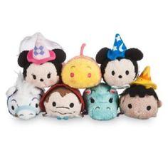 Disney Parks Store Complete Set of 7 Fantasyland Mini Tsum Tsum Plush NWT