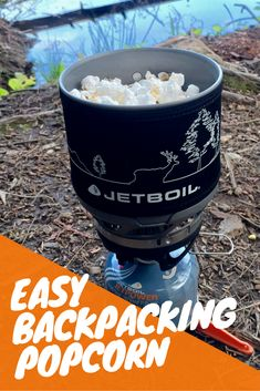 Popcorn is one of the easiest snacks to make when backpacking and hiking. If you have a backpacking stove and a pot, the only ingredients you need are popcorn, oil, and salt. #popcorn #recipes #hiking #backpacking #camping #hikerhunger #trailfood