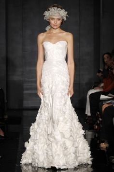 #ReemAcra #Fall2010 #HighFashion #luxury #trumpet #wedding #dress. #KellyIrwinRutty is the the Head of #Production #PrestonBailey #Designs (www.prestonbailey...). She has helped to #Plan, #Design and #Execute some of the most #Lavish #Weddings and #Events in the world for a clientele that includes A-list #Celebrities #Athletes and #CEO's. Here she shares a bit of her #Inspiration. @KellyIrwinDesigns