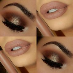 #brown #smokey eyes