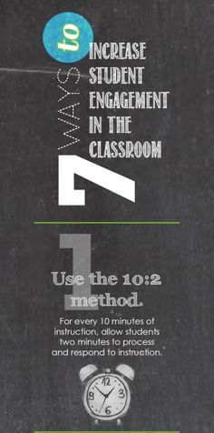 Description: Seven ways to increase student engagement in the classroom. Benefits: Motivation towards learning, retention of learning, deeper connections within the learning targets School Resources, Teacher Resources, Instructional Coaching, Instructional Strategies, Teaching Techniques, School Classroom, Classroom Ideas, Student Motivation, Educational Leadership
