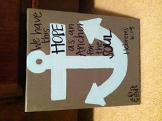 Anchor Bible Verse Canvas Painting!