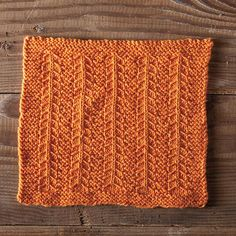 Campfire Dishcloth by Marjorie Dussaud