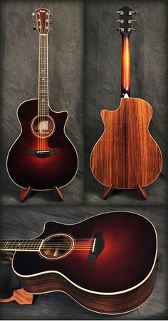 Taylor 714CE Acoustic Guitar in Vintage Sunburst. Sweet. Get 10% off this guitar or anything else you need with Coupon Code PIN10 at http://MusicPower.com.