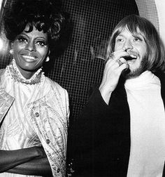Diana Ross  Brian Jones of the Rolling Stones, 1968 by Mindcage, via Flickr