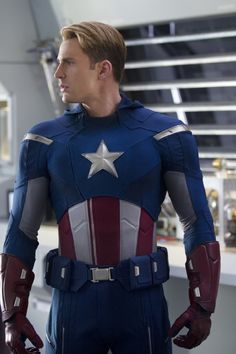 Chris Evans as Captain America. I know I'm proud to be an American!!