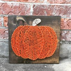 Pumpkin String Art Sign This listing is for a string art sign measuring 11 x 11 This item is made of high quality string and is based on