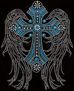 Large Cross Rhinestone Hot Fix Transfer Decal by Blingonthestyle, $13.95