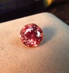 2.81ct RARE Imperial garnet Tanzania 7 mm Round AAA Special Gemstone ON SALE