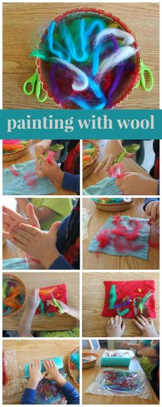 scrumdilly-do!: painting with wool