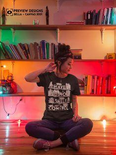 I have no shelf control black shirt bookshelf book lover | Etsy