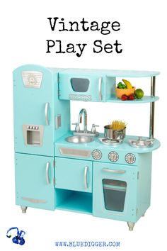 Young chefs are sure to love cooking up fun with our adorable Red Vintage Kitchen! This play kitchen has doors that open and close, knobs that click and turn and tons of convenient storage space. Kids will feel just like mom and dad when they stand around this adorable kitchen and come up with fun recipes to cook up for the family.