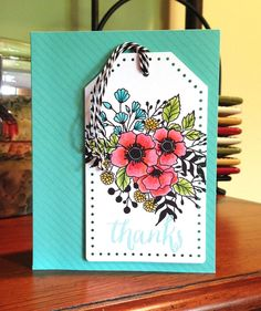 using gamsol w/ pencilsl Bouquet thanks tag 1
