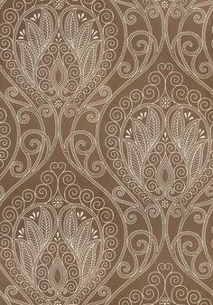 RIO, <br /> Pewter, <br /> <br /> Collection Artisan from Thibaut Damask Wallpaper, Designer Wallpaper, Pattern Wallpaper, Wallpaper Backgrounds, Wallpapers, Textiles, Textile Patterns, Print Patterns, Paisley Pattern