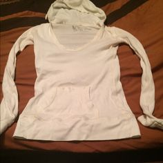 Victoria's Secret hooded shirt Size small semi fitted hooded shirt with pocket in front from Victoria's Secret. PINK Victoria's Secret Tops Tees - Long Sleeve