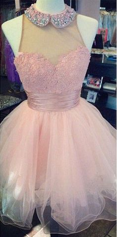 Cute Homecoming Dress,Pink Homecoming Dresses,Open Back Homecoming Dresses,Organza