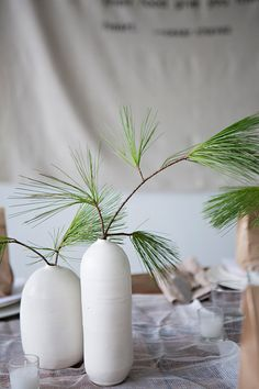 pine evergreen centerpieces