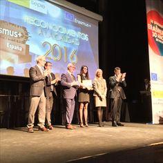 Entrega de reconocimientos #EPlus16 Irene Gómez Arnaiz. Felicidades Irene!!!! #ErasmusPlusES #EASDzamora