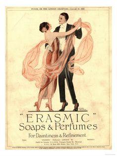 Erasmic Soap Perfume, Evening-Dress Dancing, UK, 1920 Art at AllPosters.com