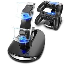 Nice  Dual USB Charging Charger Dock Station Stand for Playstation PS Controller F Games Accessories