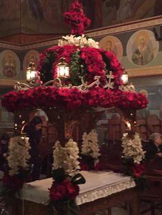 Orthodox Easter, Church Decorations, Church Flowers, Flower Beds, Wedding Flowers, Lord, Christmas Tree, Holiday Decor, Inspiration