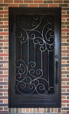A unique wrought iron security entry door by Adoore Iron Designs located in Melbourne Australia. Wrought Iron Security Doors, Steel Security Doors, Wrought Iron Doors, Metal Doors, Window Grill Design Modern, Grill Door Design, Steel Gate Design, Iron Gate Design, Iron Window Grill