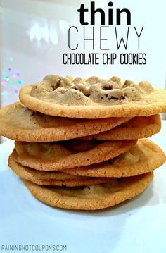 Thin Chewy Chocolate Chip Cookies Recipe