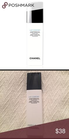 Chanel Lait Confort cleansing milk Comforts dehydrated and sensitive skin with the de-pollution power of Tulip Tree Extract and the hydrating properties of Arum Lily Extract. Non-drying formula thoroughly and comfortably cleanses, soothes and tones, with deep moisturizing effects. New without box. CHANEL Makeup