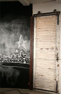 Chalk board city. Nice to adapt for Christmas?