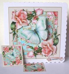Beautiful Pink Roses Card Front Kit in Card Gallery